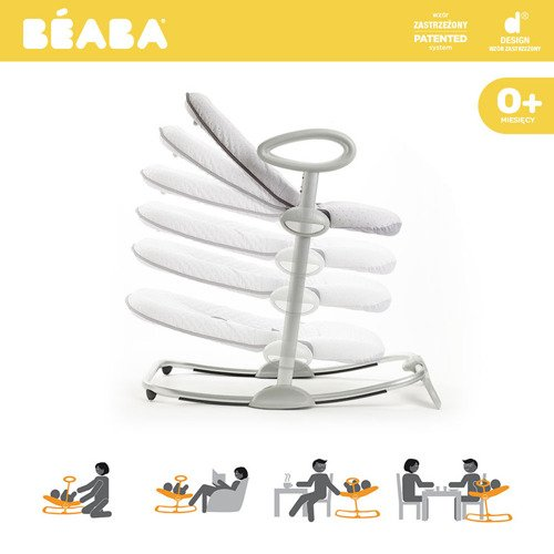 "Beaba ""Bouncer Up&Down III"" Leżaczek yellow Palm tree"